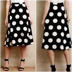 NWT Anthropologie Deco Dot Midi Skirt